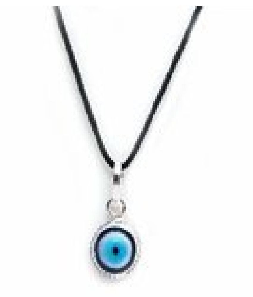 without chain Pendant Remove Evil Eye for unisex silver by Ratan Bazaar