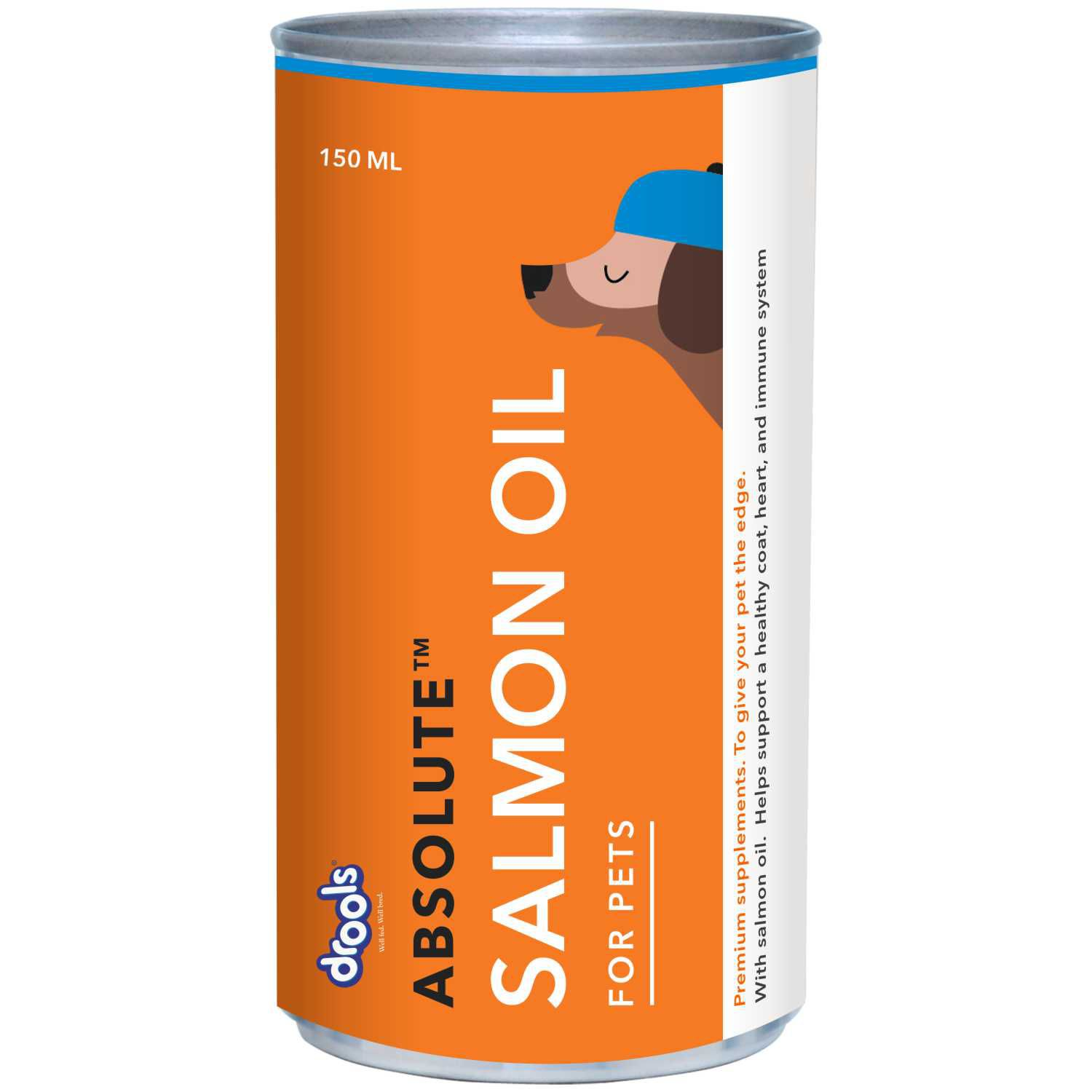 Drools Absoute Salmon Oil Syrup-300 ml Wet  Non-Veg