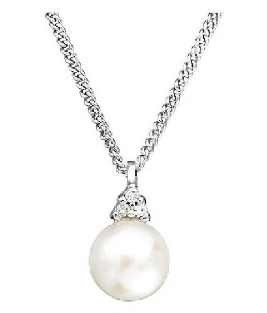 7.25 Ratti  Sterling Silver  Pendant Original Pearl Pendant without chain Lab Certified Stone by Kundli Gems\n