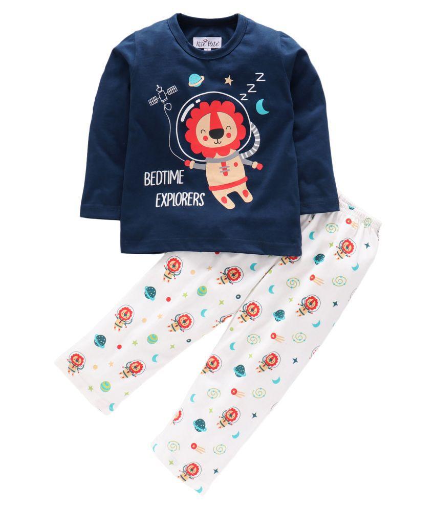 Nite Flite  Boys Bedtime Explorer Print Pajama Set