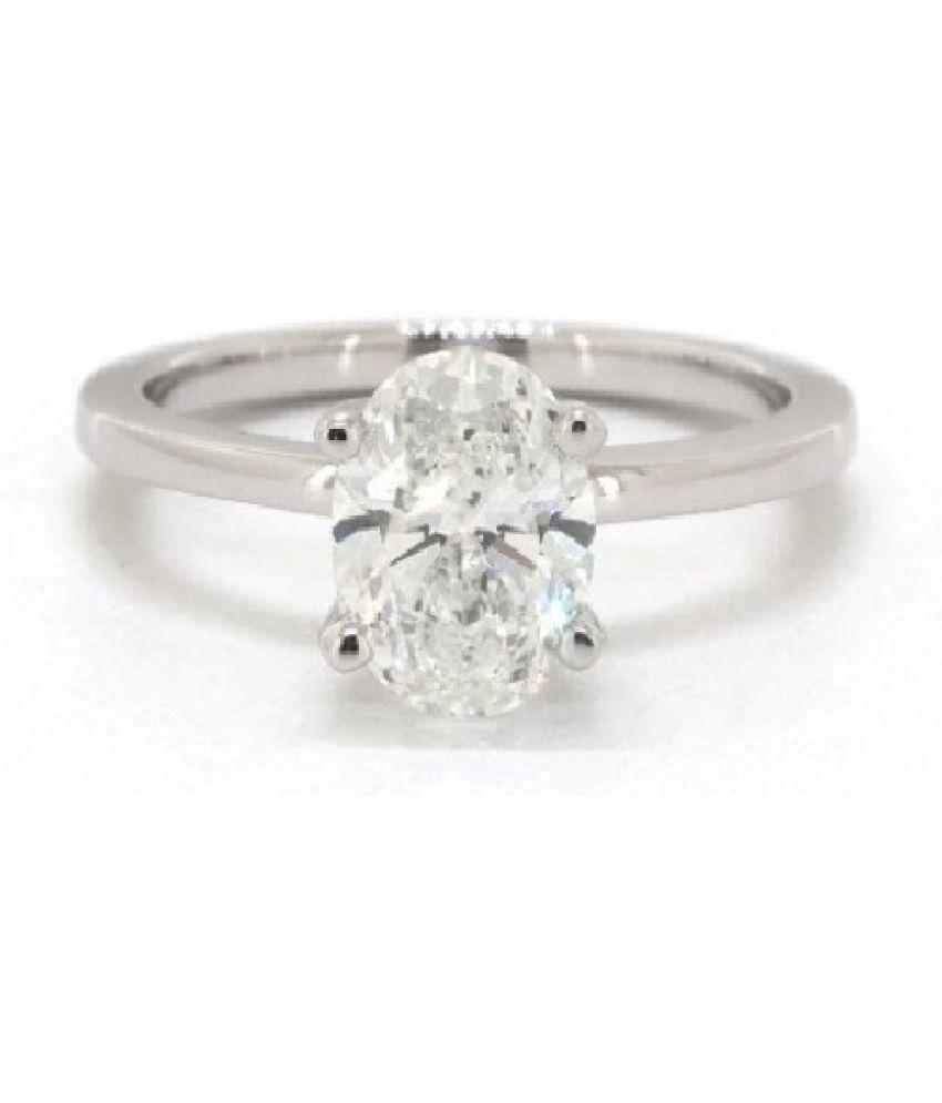 Ratan Bazaar - Natural stone Diamond   silver finger ring Unheated & effective stone Diamond ring for men and women