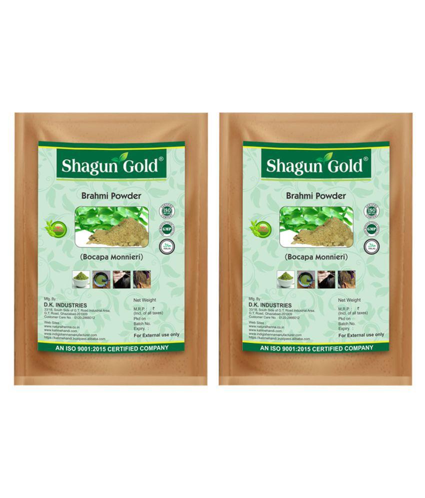 Shagun Gold Natural Brahmi powder for hair treatment women & men 200g