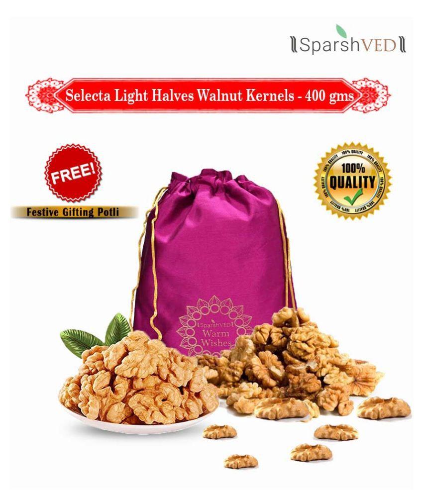 Sparshved Selecta Light Halves Walnut Kernels (Akhrot Giri) 400g (Vacuum Packed)
