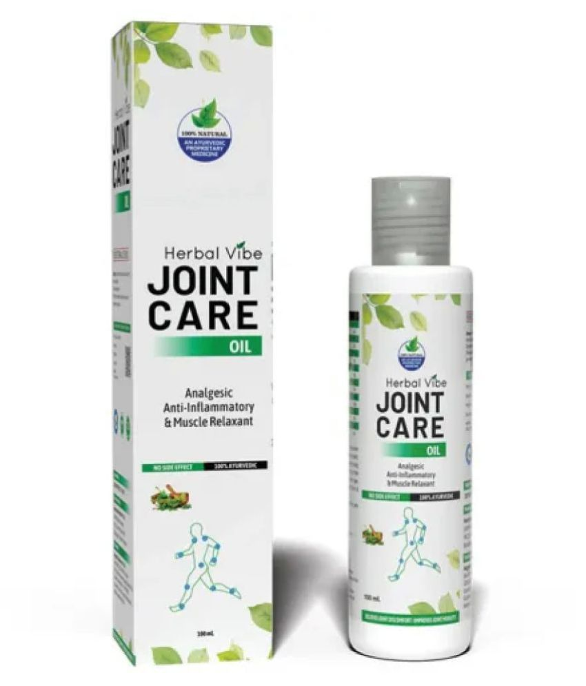 Herbal Vibe Joint Pain Relief Oil  Ayurvedic Oil in Body Pain Helpful in Joint Pain, Back Pain, Knee Pain, Leg Pain, Wrist Pain, Ankle Pain Pack Of 1