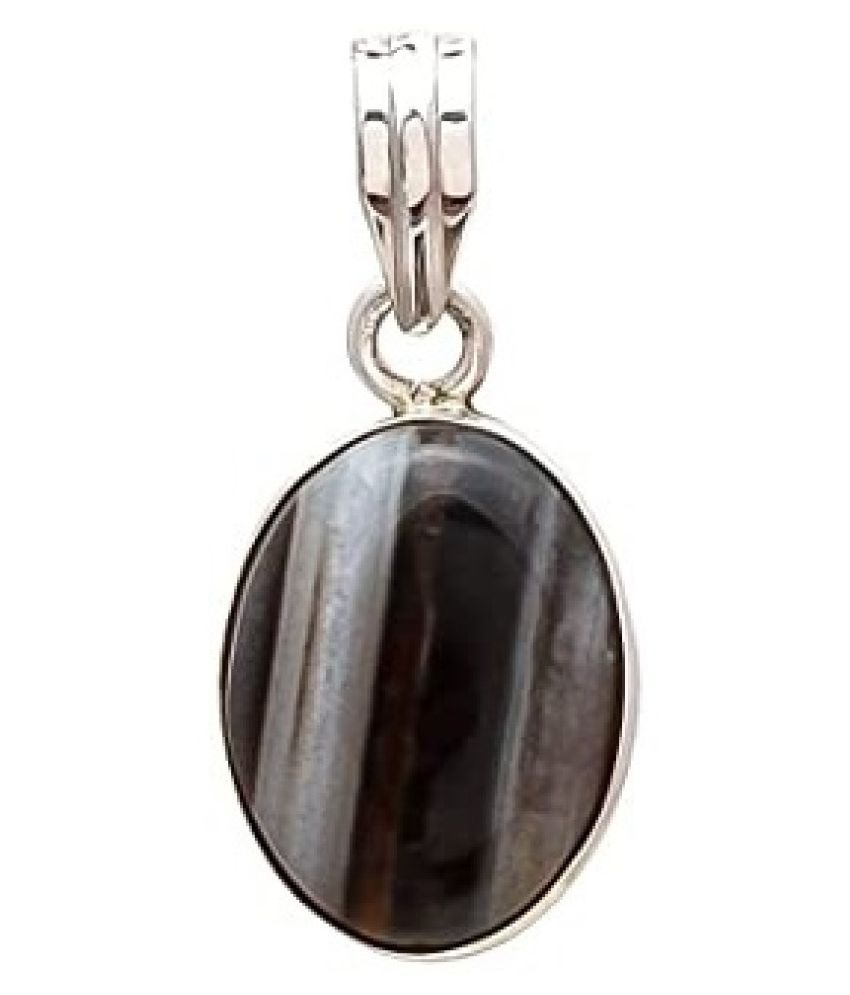 6 ratti Natural Sulemani Hakik Stone Unheated Lab Certified gold plated  Pendant without chain by Kundli Gems\n