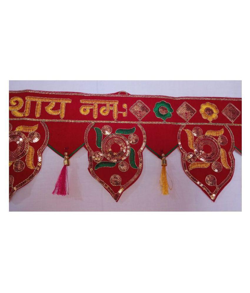 DIVYAM Fabric Diwali Toran - Pack of 1