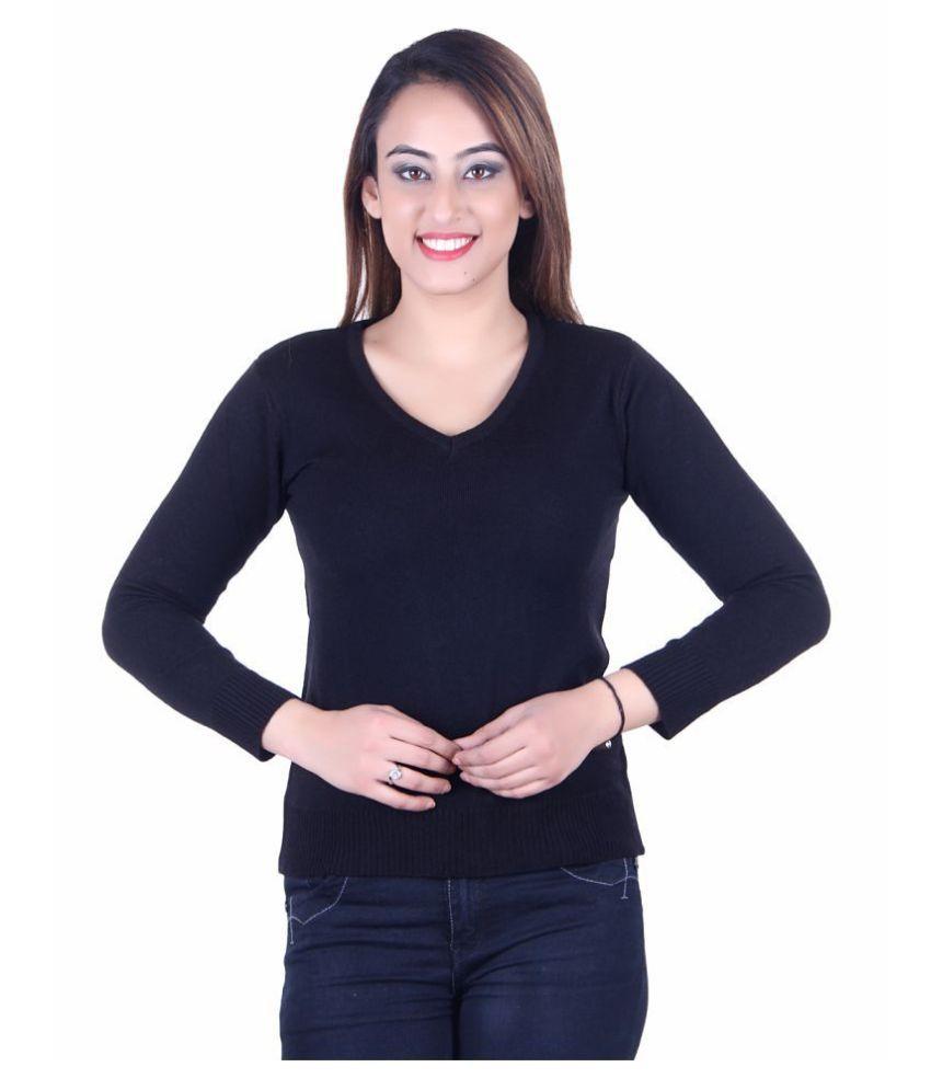 Ogarti Acrylic Black Pullovers