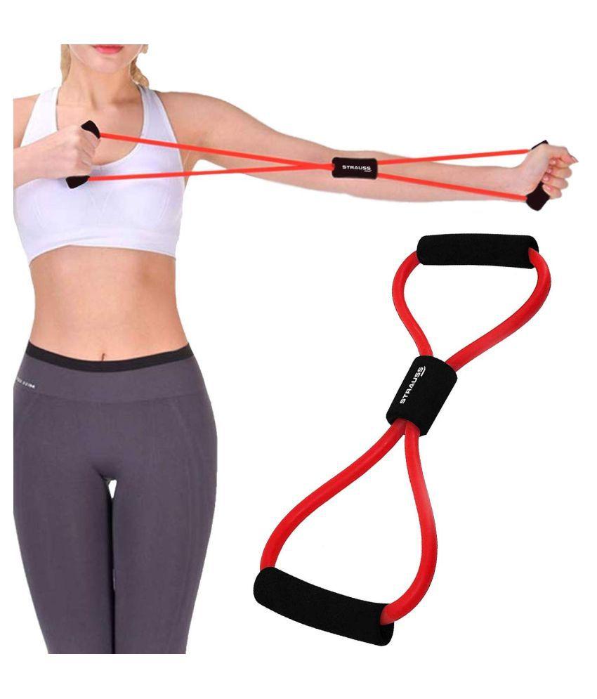 Soft Latex Figure 8 Yoga Fitness Workout Toning Resistance Tube Exercise Band