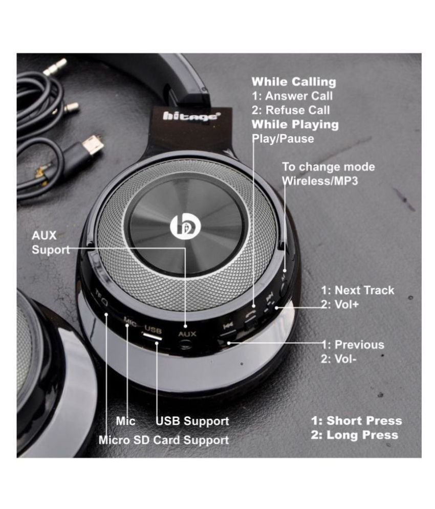 hitage HITAGE BTH768 Stereo Bluetooth Headset Over Ear Wireless With Mic Headphones/Earphones