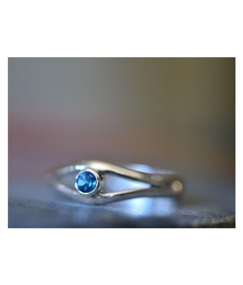 9 Carat topaz Silver  Ring byRatan Bazaar