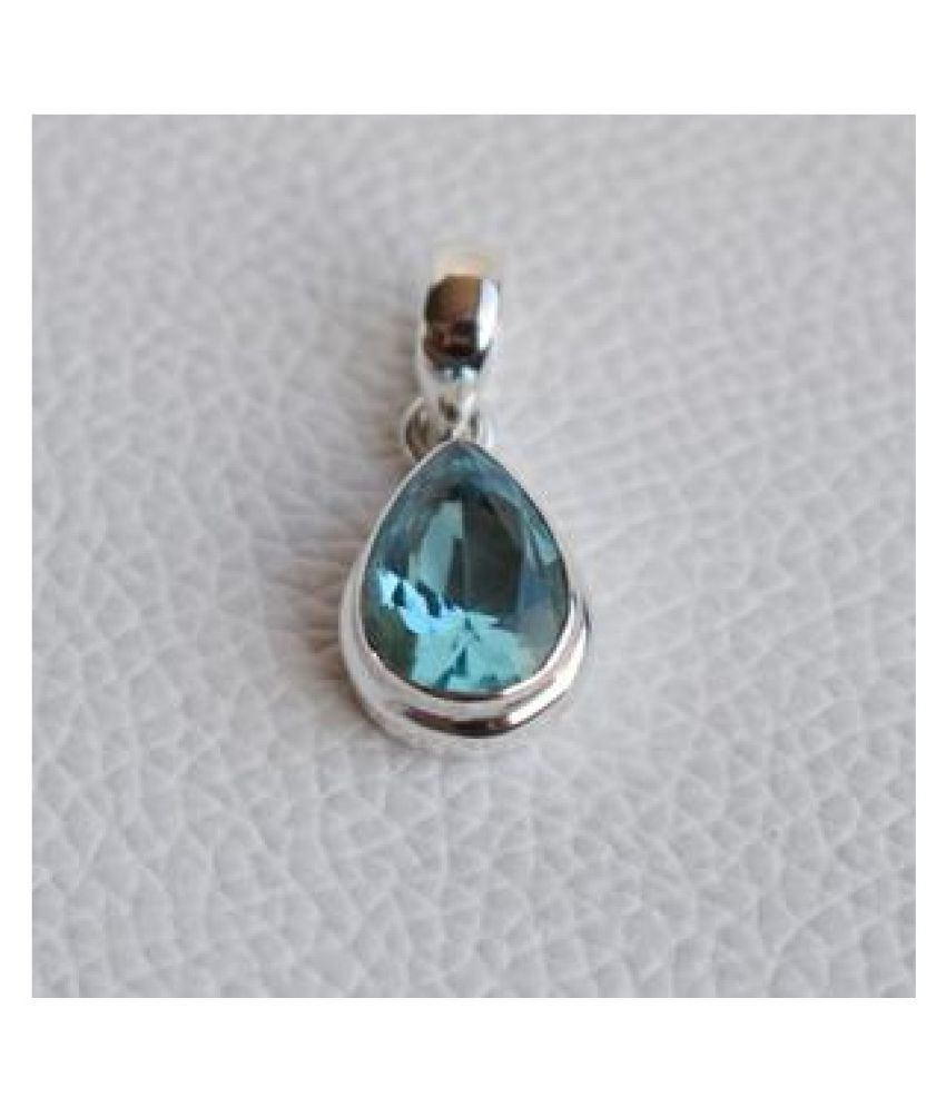 Gold Plated 7.5 Carat Classic Topaz Pendant without chain by Ratan Bazaar
