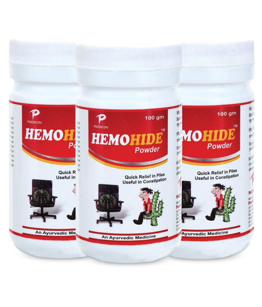 HEMOHIDE Ayurvedice Powder 300 gm Pack of 3