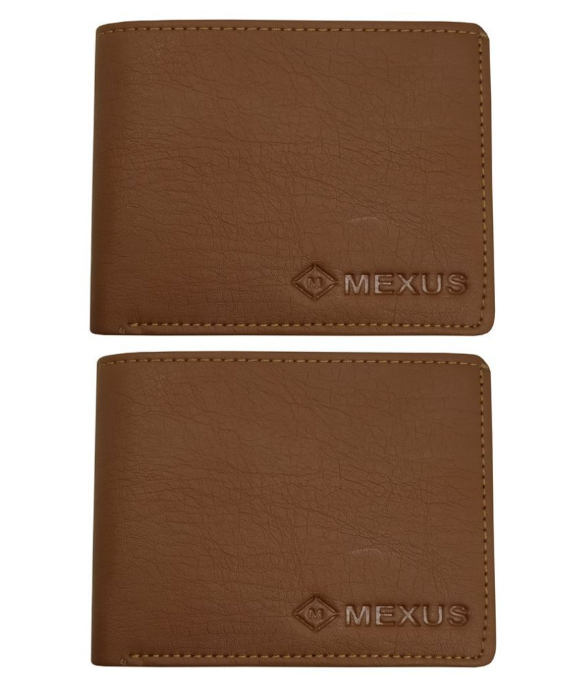 MEXUS PU Tan Sport Regular Wallet