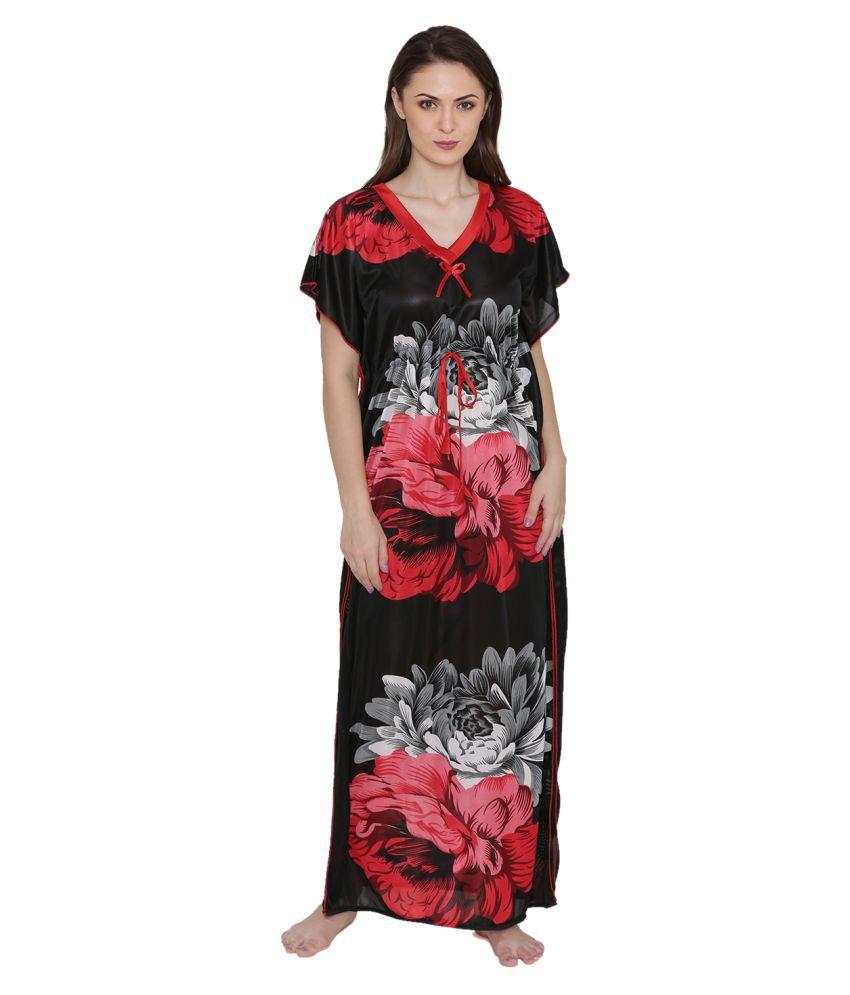Avenew Fashions Nylon Nighty & Night Gowns - Red