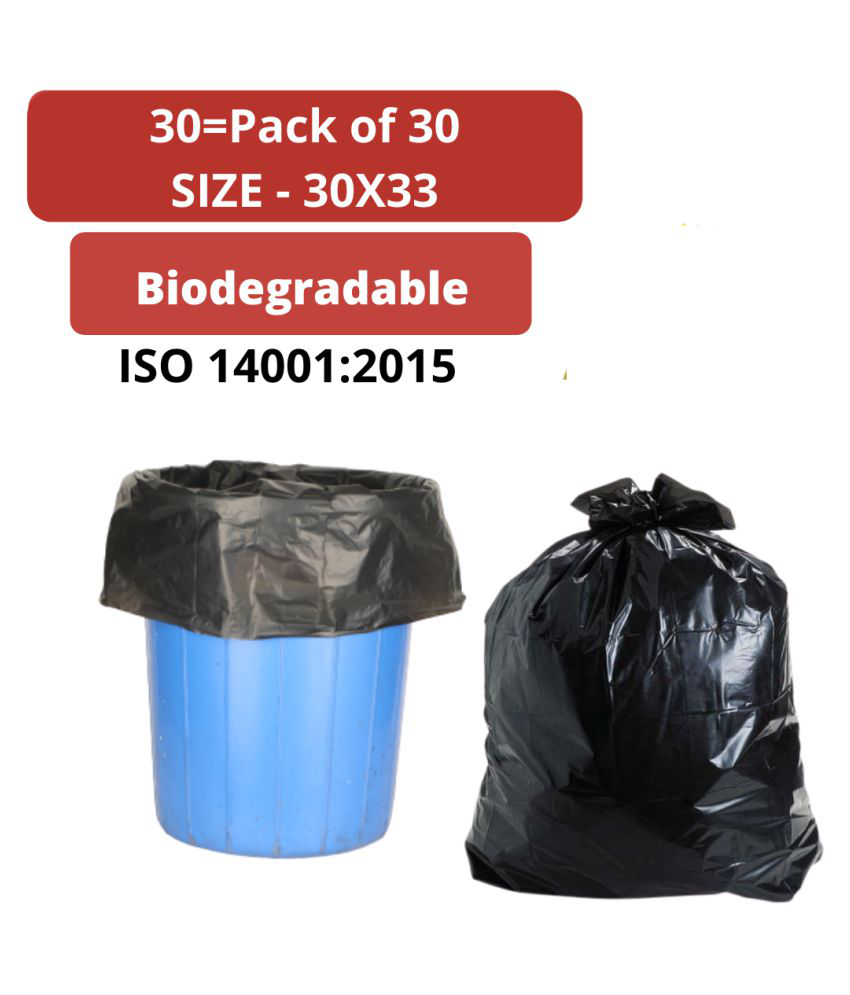 Biodegradable Heavy Duty Garbage bags 30 by 33 pack of 30