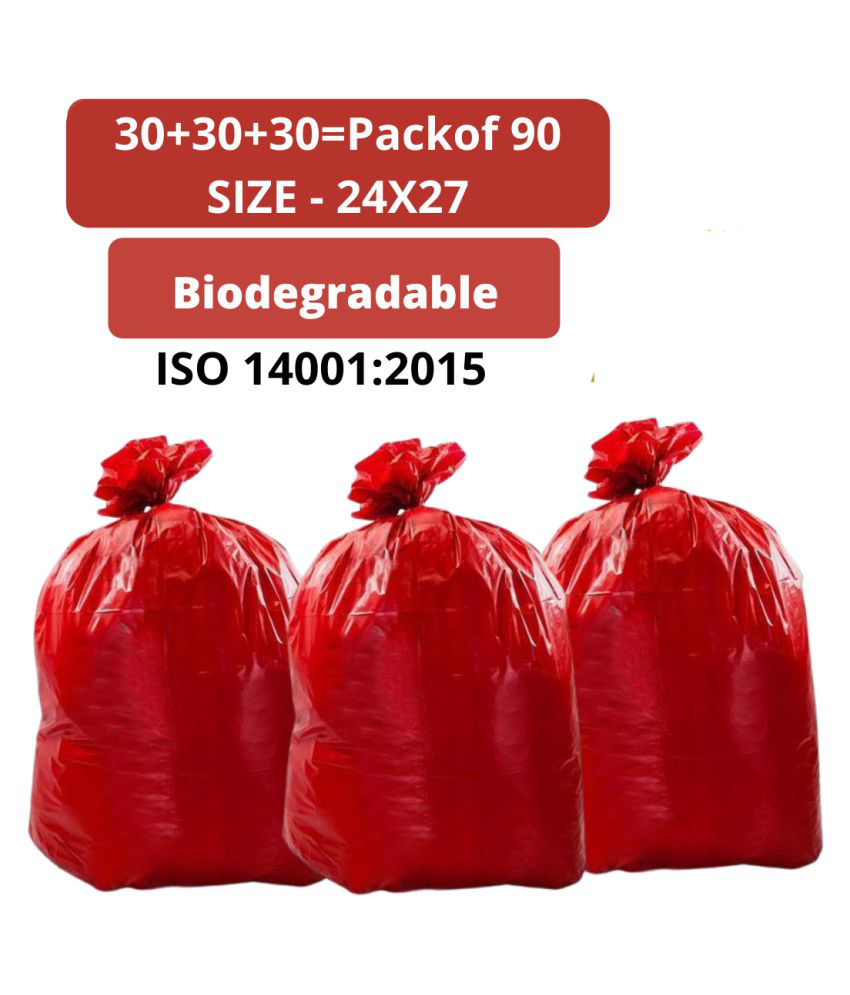 Biodegradable Heavy Duty Garbage bags 24 by 27 pack of 90