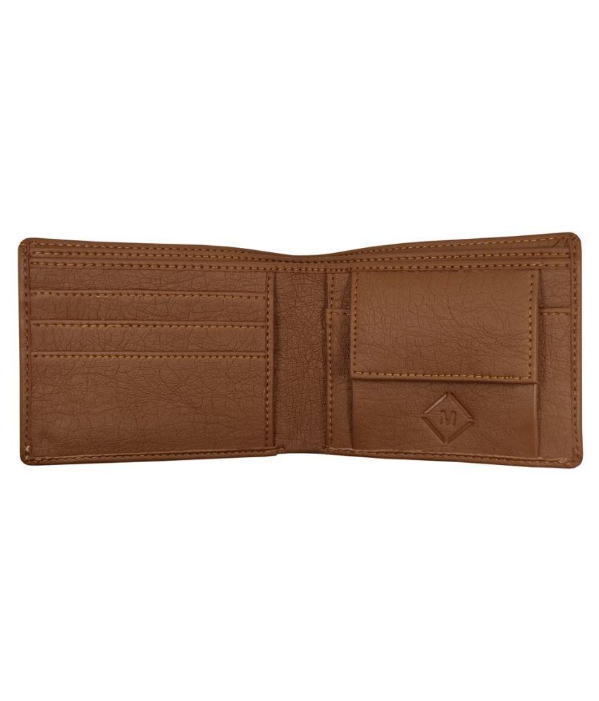 MEXUS PU Tan Casual Regular Wallet