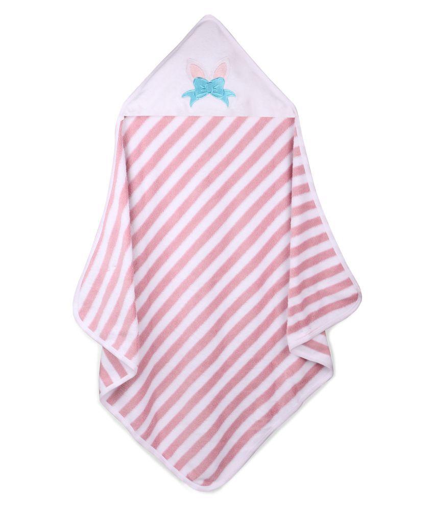 My Milestones Single Terry Bath Towel Pink