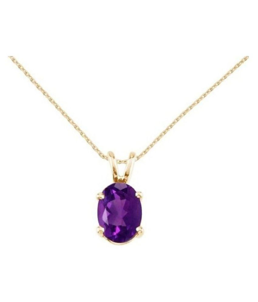 Natural & Lab Certified Amethyst stone Gold Plated Pendant for Women & Men