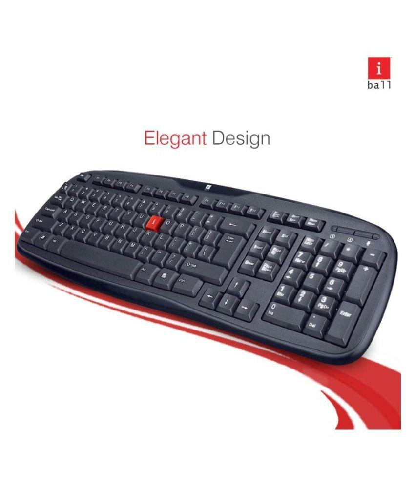 iBall Winner Soft Keys Black USB Wired Desktop Keyboard