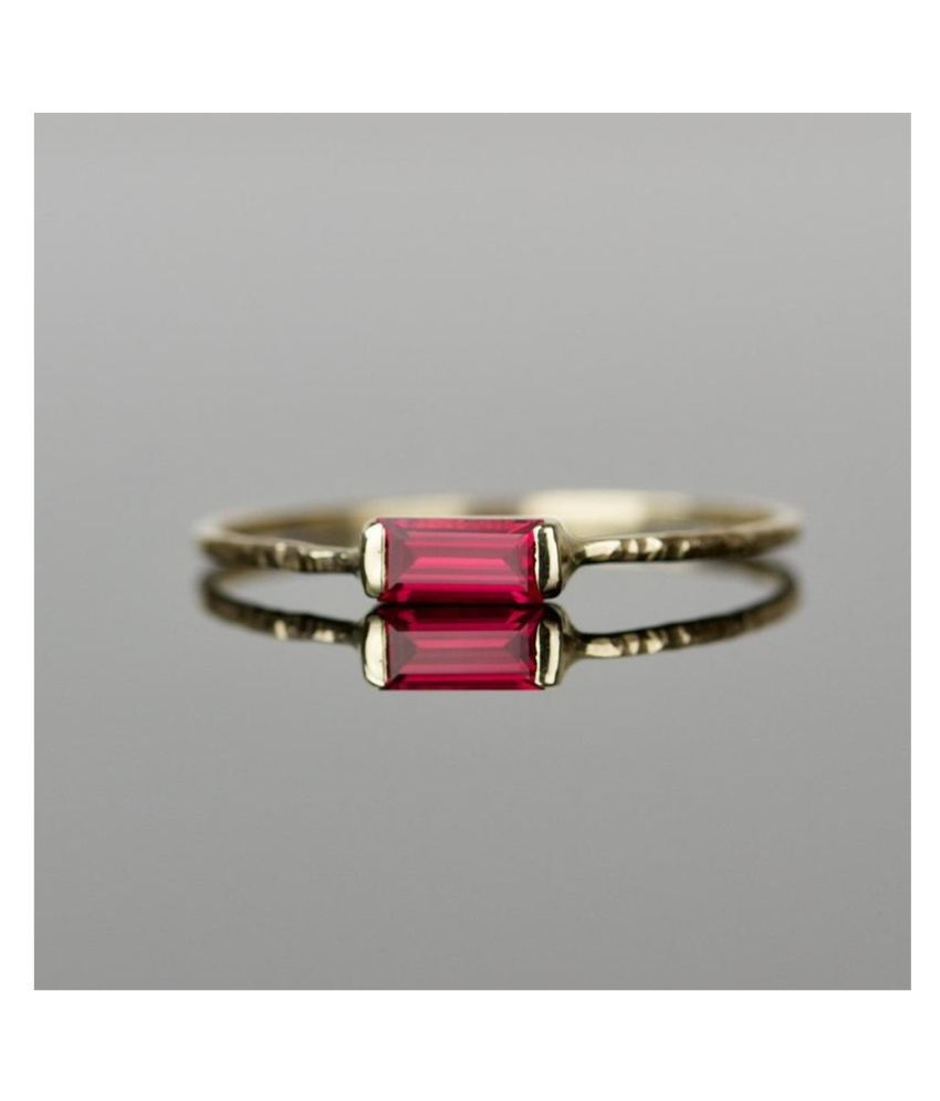 100% Original 9 ratti  Ruby(Manik) Natural Gold Plated Ring for unisex by KUNDLI GEMS