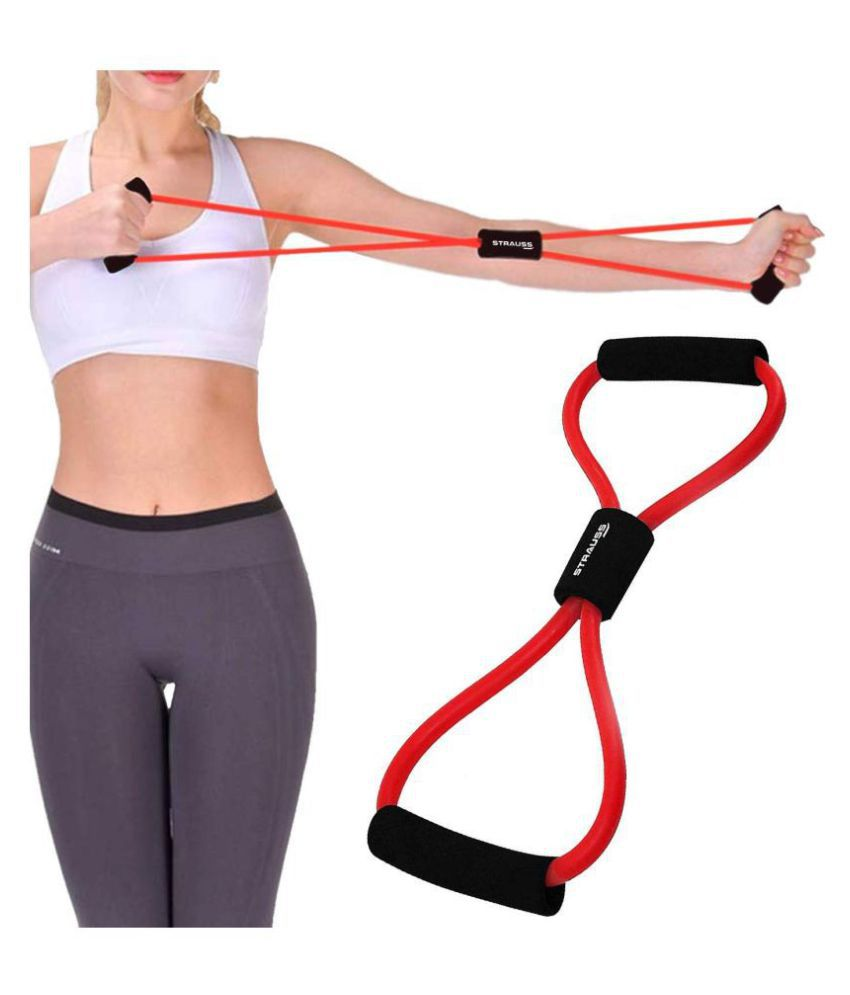 Toner Resistance Band Figure 8 Heavy Duty Workout Tube for Upper  amp; Lower Body