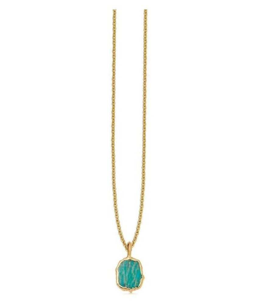 Gold Plated Turquoise Stone Pendant 4.25 carat without chain by Kundli Gems