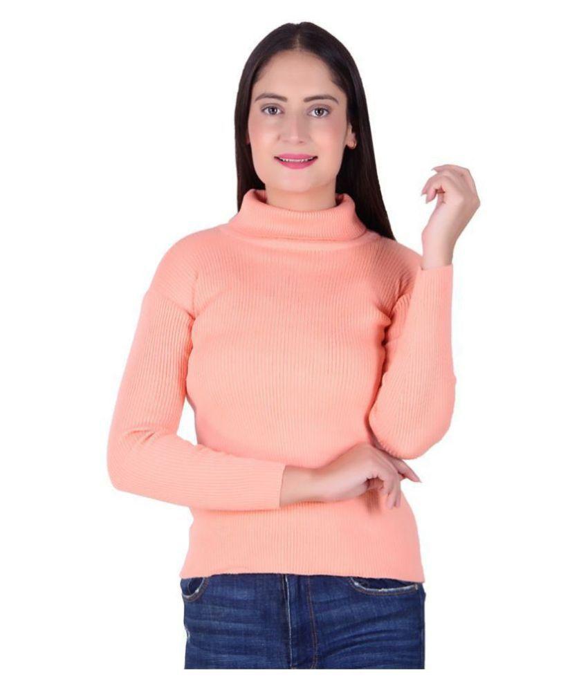 Ogarti Woollen Peach Pullovers