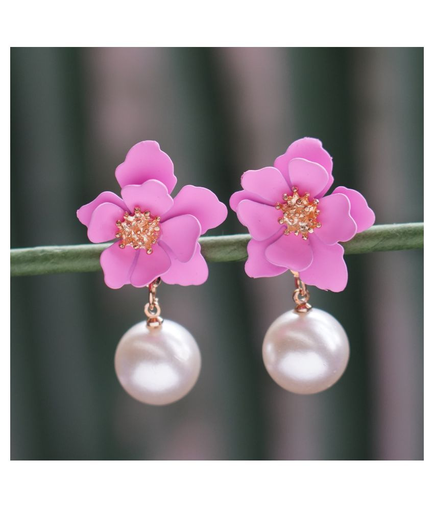 Combo Of 2 Floral Pearl Earrings