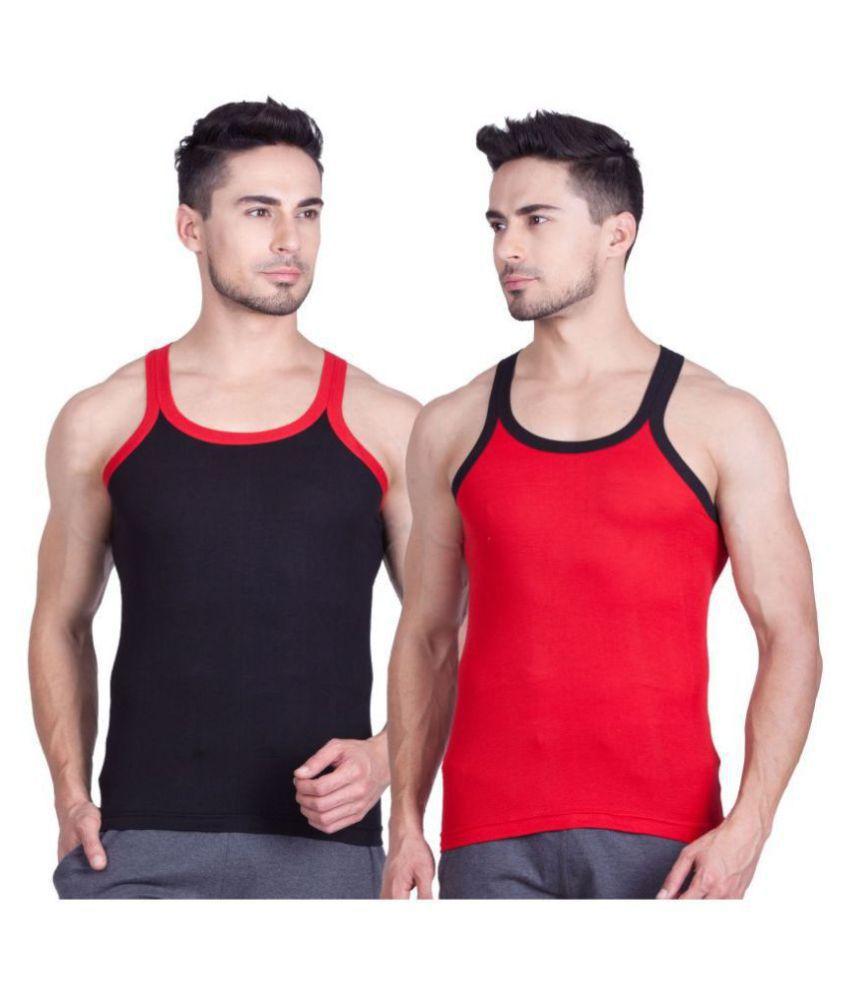 Lux Cozi Multi Sleeveless Vests Pack of 2