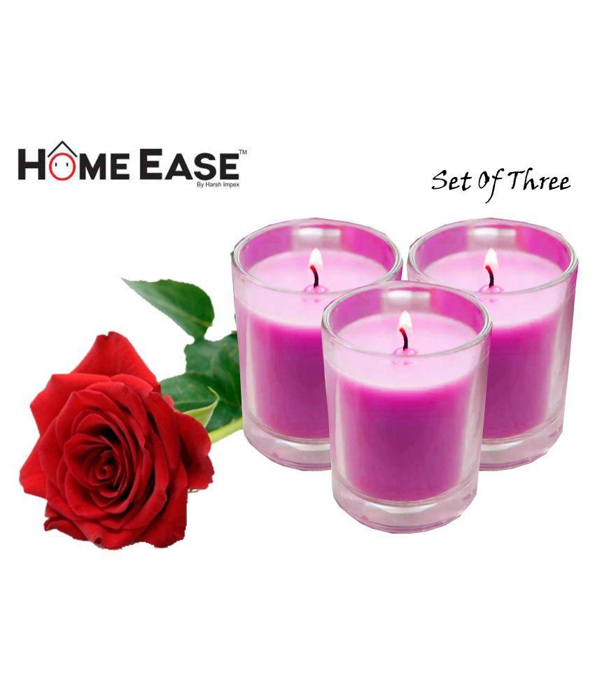 Harshpet Purple Jar Candle - Pack of 3