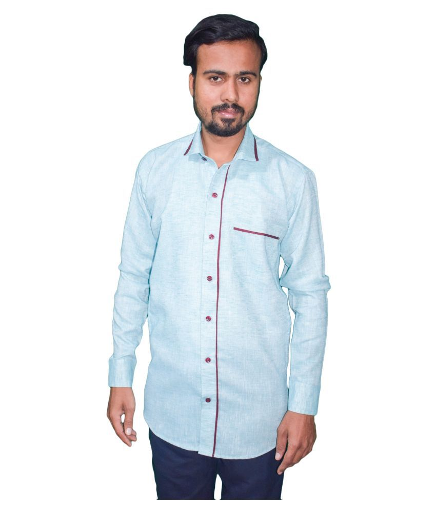 KMP 100 Percent Cotton Blue Shirt
