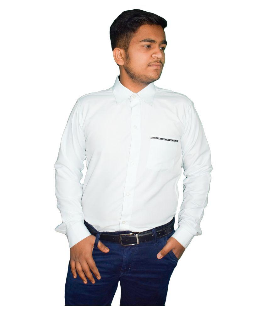 KMP 100 Percent Cotton White Shirt