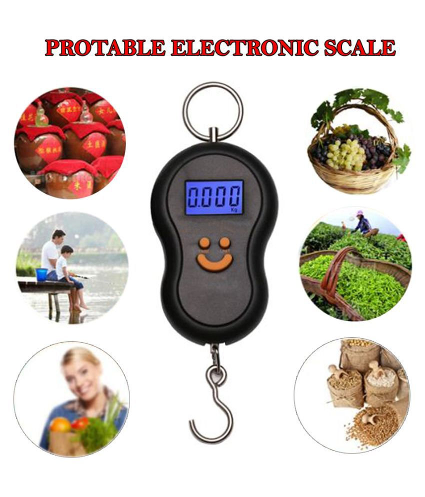 SD Portable Electronic Digital LCD Pocket Weighing Hanging Scale Digital Kitchen Weighing Scales Weighing Capacity - 50 Kg