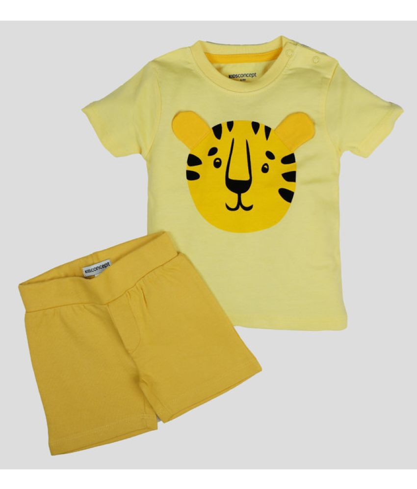 Kids Concept Cotton T Shirt with Shorts - Tiger Set…