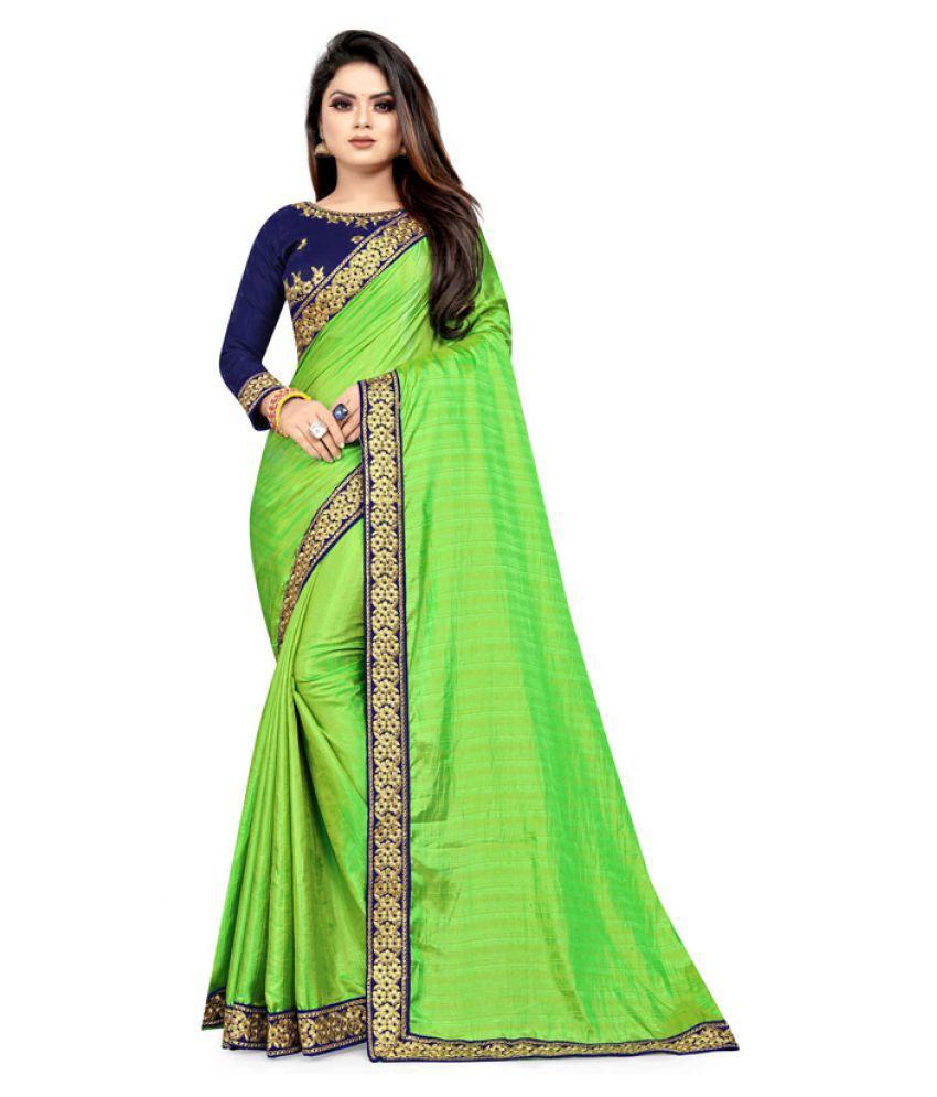 Nefrican Green Art Silk Saree