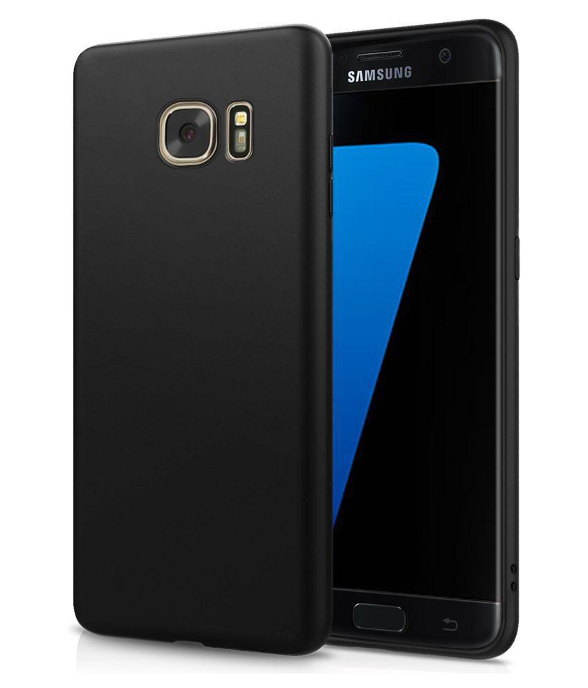 Samsung Galaxy S7 Edge Soft Silicon Cases Wow Imagine   Black