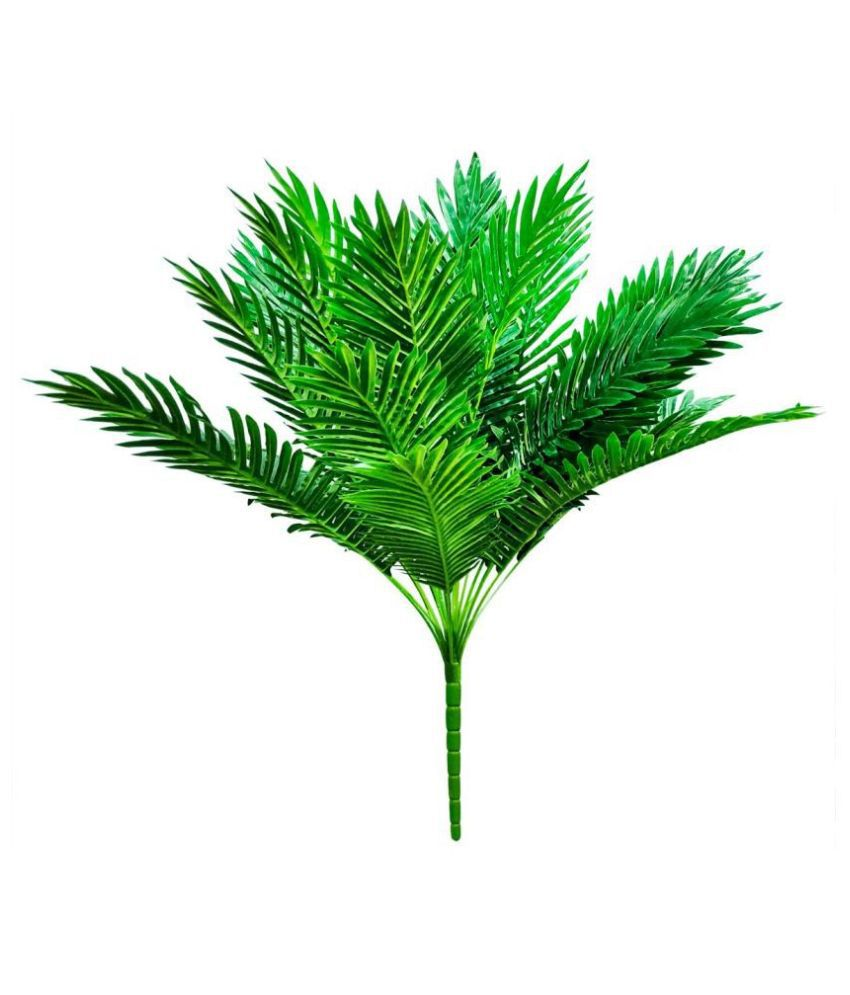 fns store Giant Africa Palm 24 Leave Tree Green Artificial Tree Plastic - Pack of 1