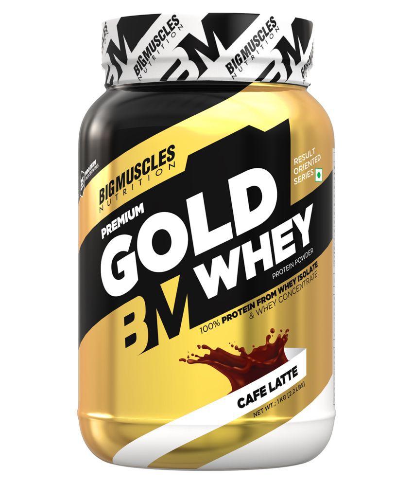 BIGMUSCLES NUTRITION Premium Gold Whey Cafe Latte 1 kg