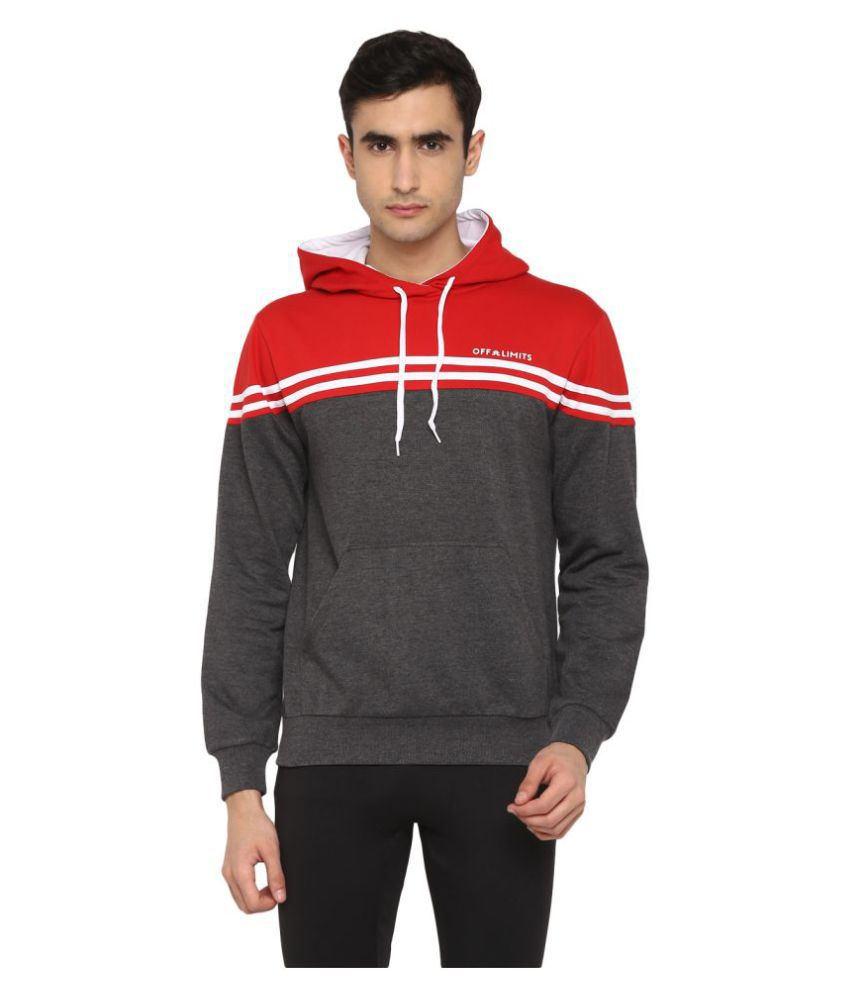 OFF LIMITS Red Polyester Sweatshirt