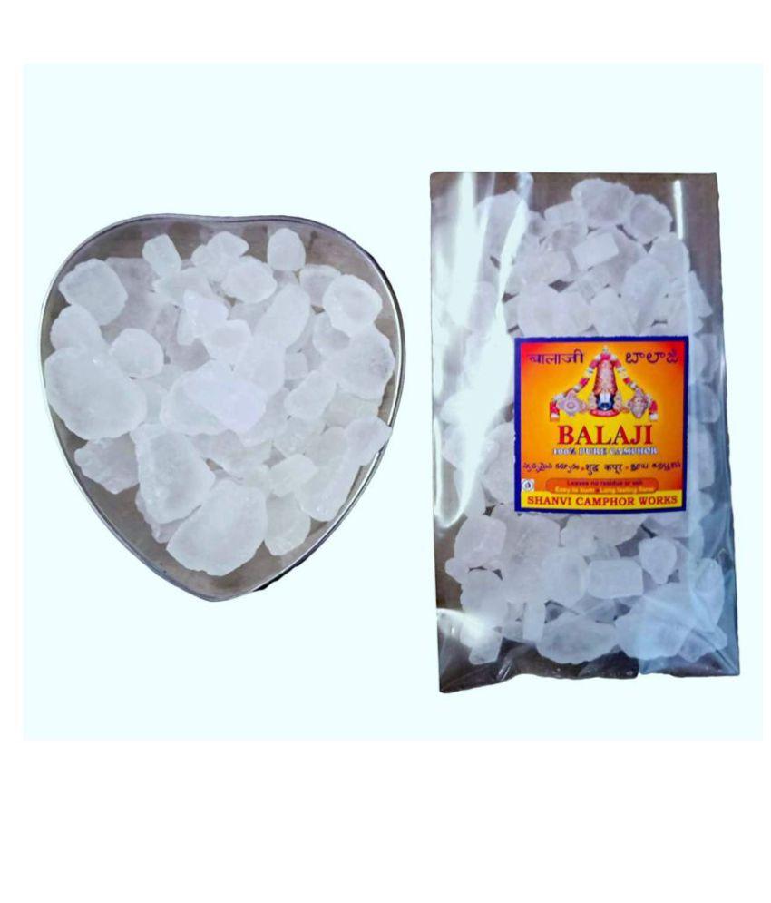 SHANVI CAMPHOR WORKS Pure DESI Natural Bhimseni Camphor for Pooja 40 Grams (Pack of 1)