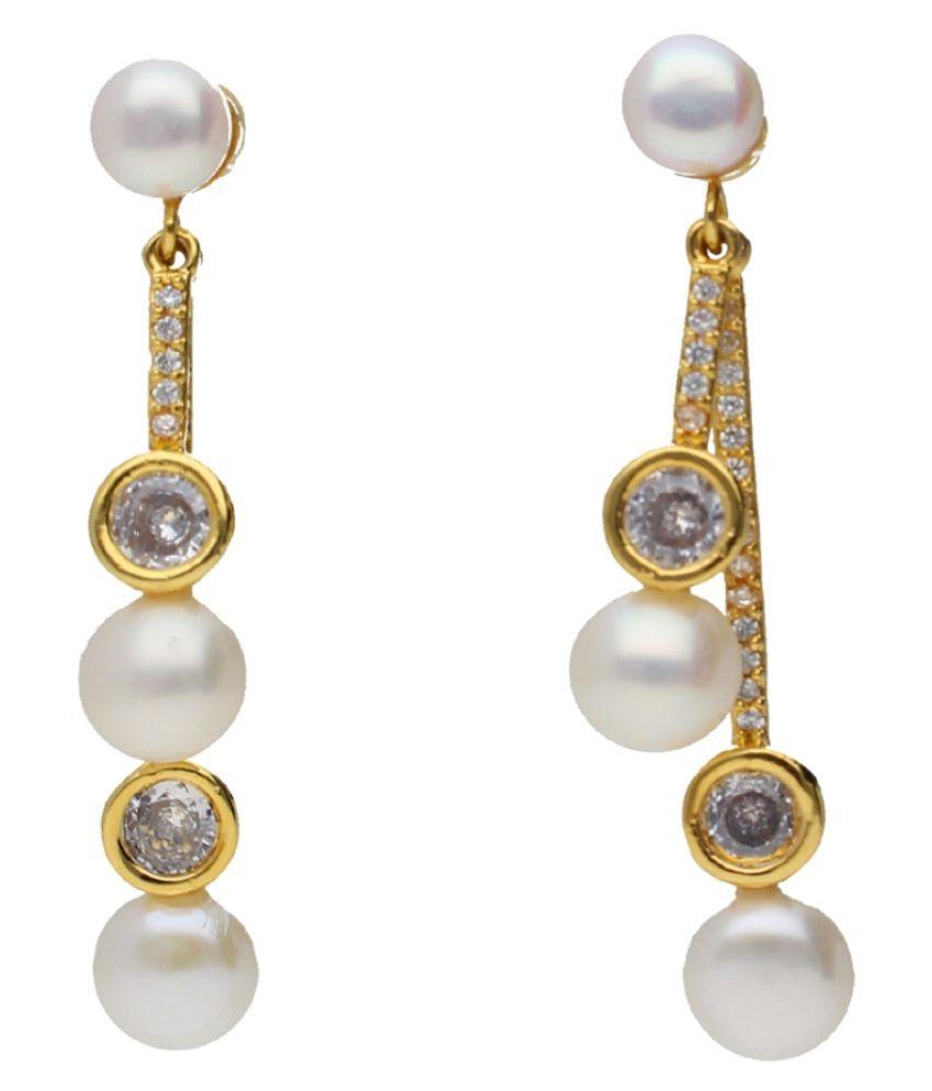 Stylish Alyzza Pearl Hangings By KNK Jewellery