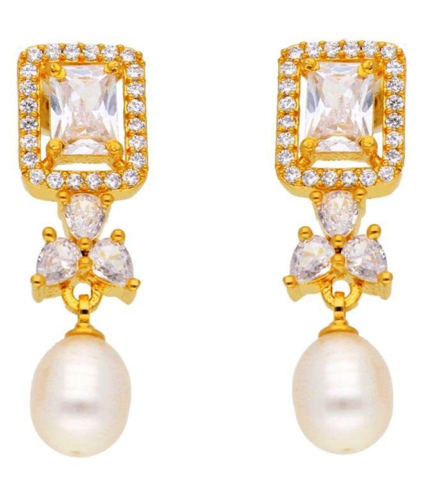 Stylish Hayath Pearl Earrings By KNK Jewellery