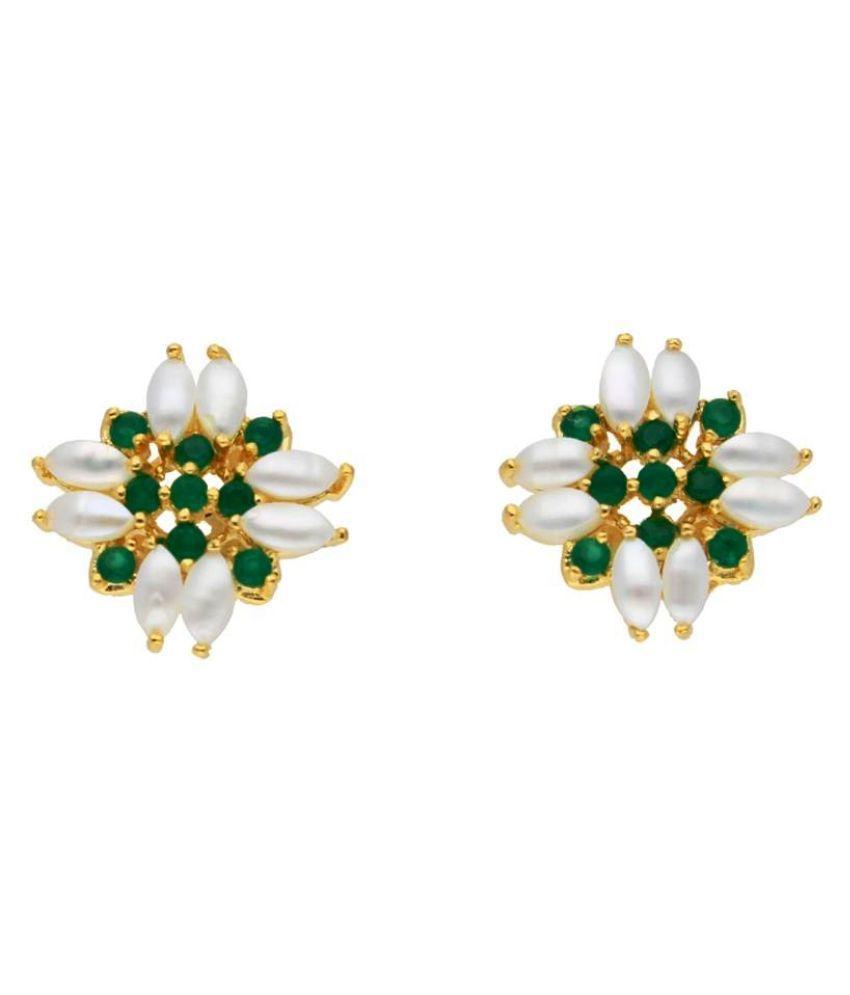 Stylish Kiara Pearl Earrings By KNK Jewellery