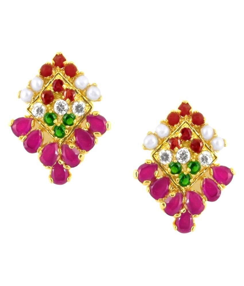 Stylish Marvelous Multi-Color Earrings By KNK Jewellery