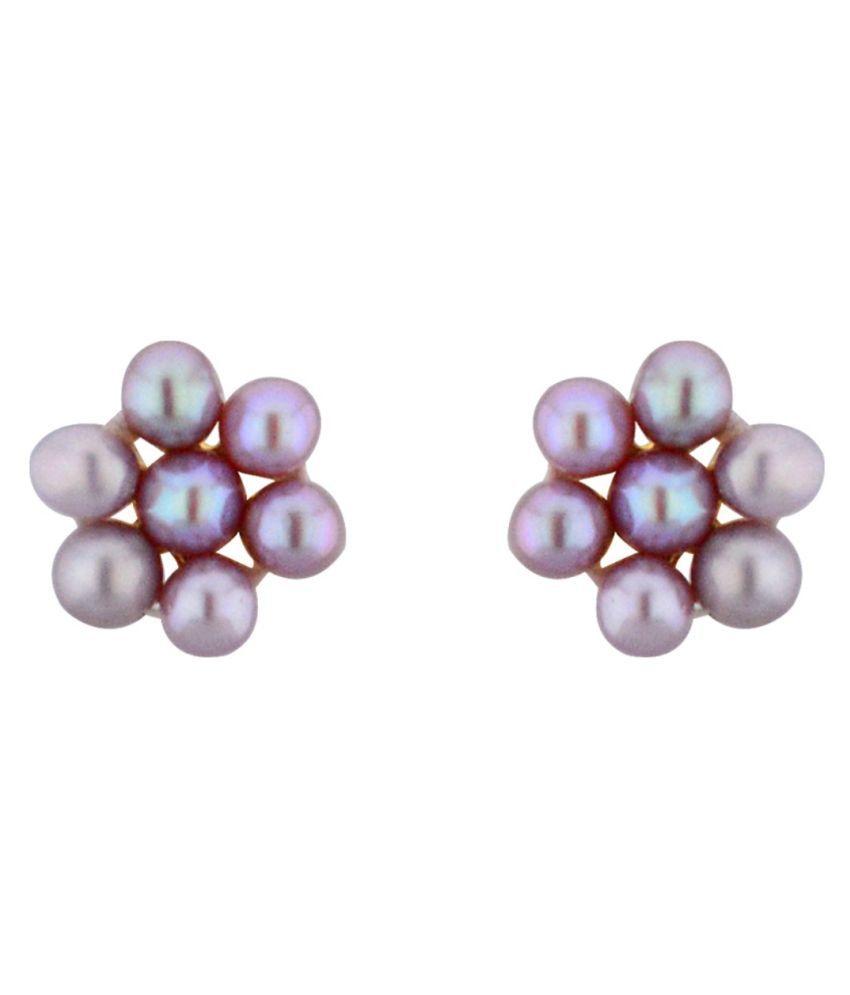 Stylish & Trendy 7 Pearls peach Earrings By KNK Jewellery
