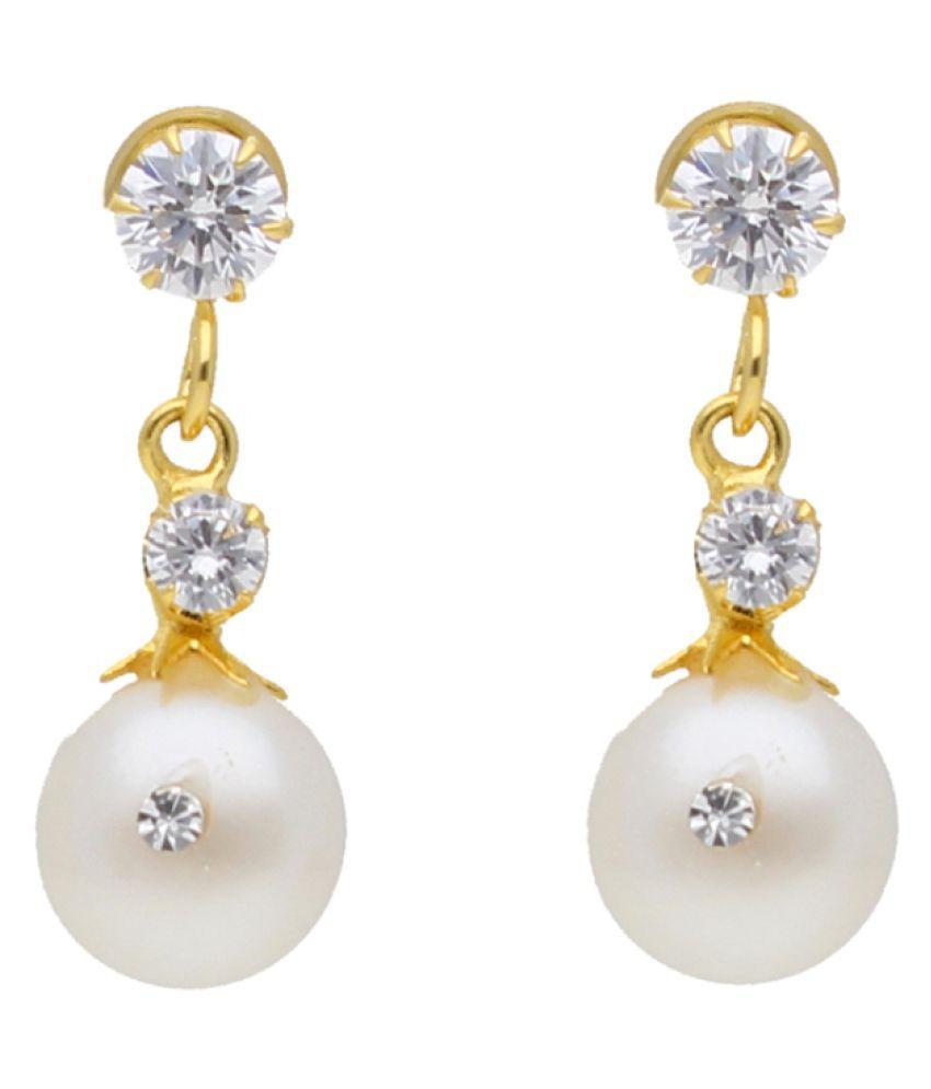 Stylish Viha Pearl Drop Earrings By KNK Jewellery