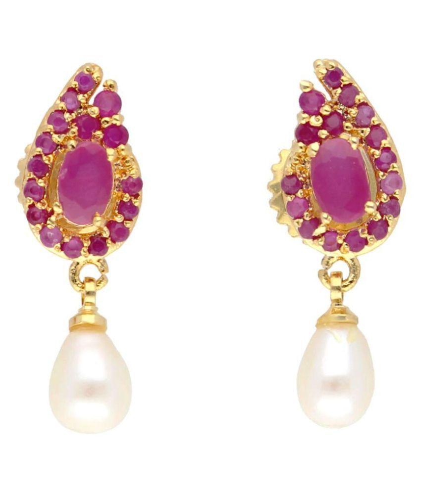 Stylish Vishnupriya Royal Pearl Earrings By KNK Jewellery