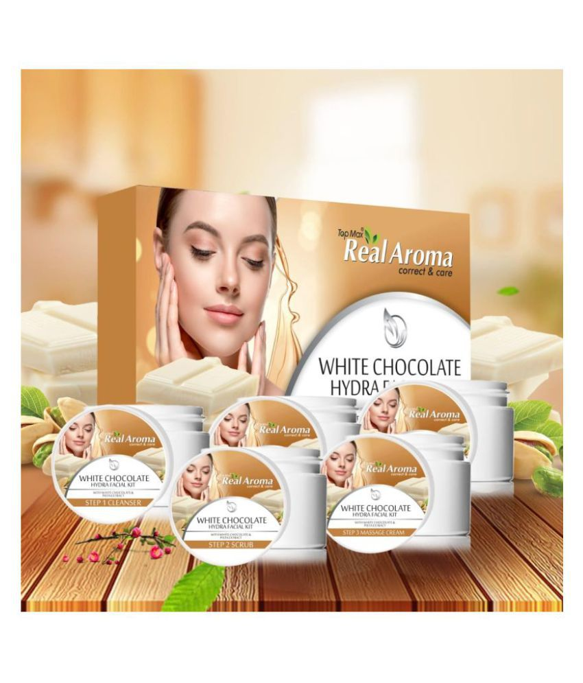 TOP MAX REAL AROMA White Chocolate Hydra (5 in 1) Facial Kit 700 g