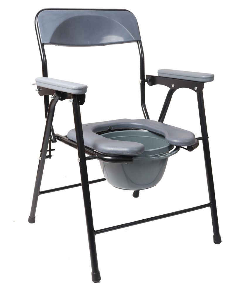 medibox India Commode Chair With Armrest 4 g